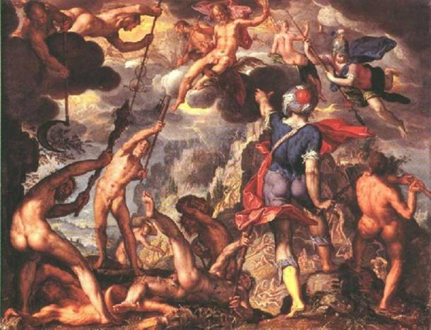 'The Battle Between the Gods and the Titans' (1600) by Joachim Wtewael.