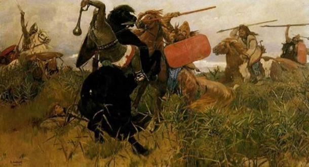 Battle between the Scythians and the Slavs (Viktor Vasnetsov, 1881).