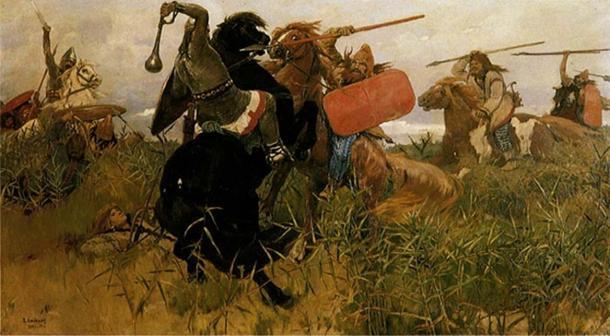 Battle between the Scythians and the Slavs by Viktor Vasnetsov. (1881) (Public Domain)