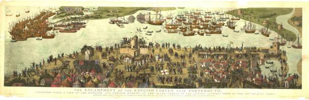 Battle in the Solent, July 1545.
