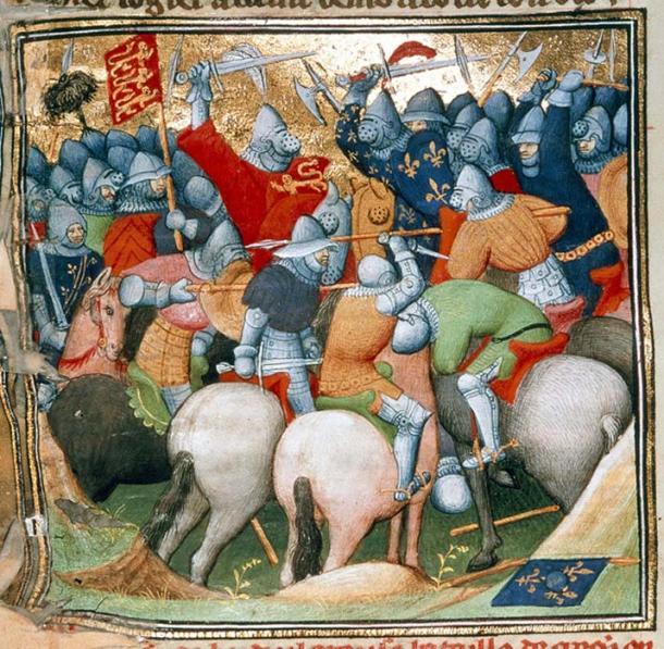 Battle of  Crécy (Grandes Chroniques de France / Public Domain)