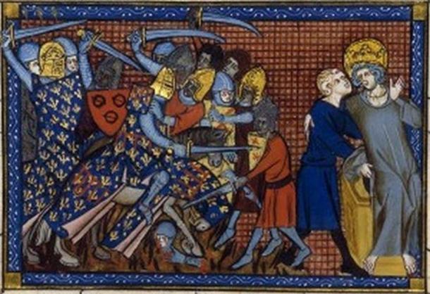 Battle of Al Mansurah and Louis IX and Ysembart le Queu.