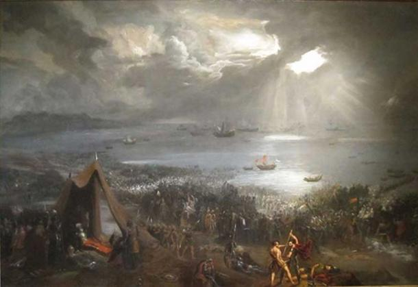 Battle of Clontarf - 23 April 1014 at Clontarf, near Dublin, on the east coast of Ireland. (Public Domain)