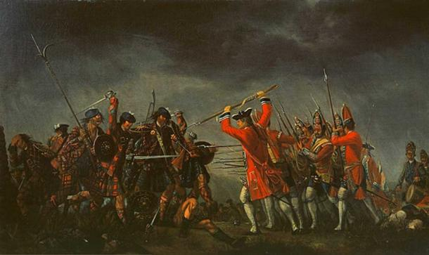 The Battle of Culloden, oil on canvas, David Morier, 1746.