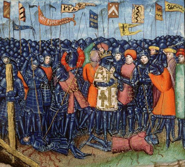 The Battle of Hattin, from a 15th-century manuscript.
