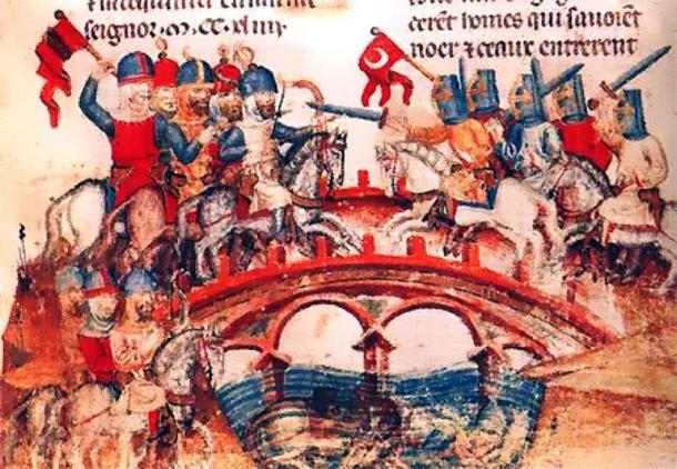Battle of Mohi 1241 between Hungarians and Mongols. (Public Domain)