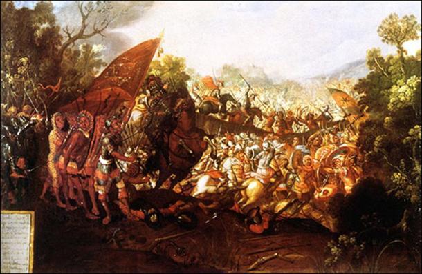 The Battle of Otumba.