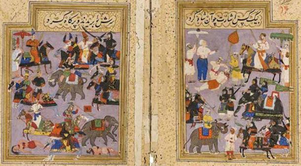 Battle of Talikota. Hussain Nizam Shah I and the coalition of Deccan Sultanates decisively defeat and execute Aliya Rama Raya. (Aftabi/CC BY SA 4.0)