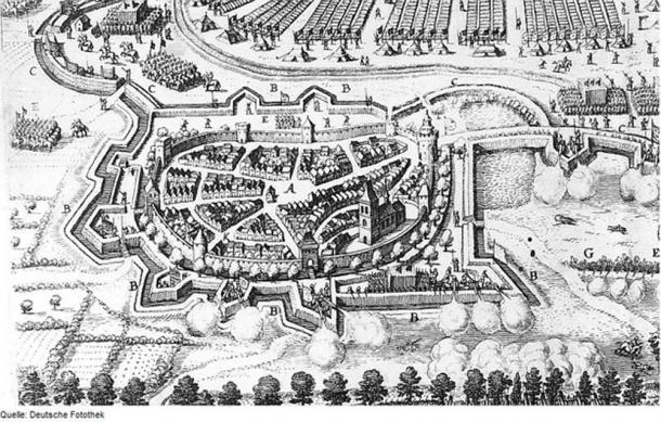 Illustration of the Battle of Werben, detail.