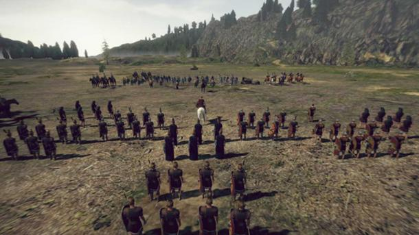 Battle screenshot from the game Numantia. Credit: RECO Technology