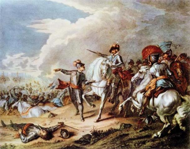 Battle between the Parliamentarian army and the Royalist army during the English Civil War. (The Illusional Ministry / Public Domain)