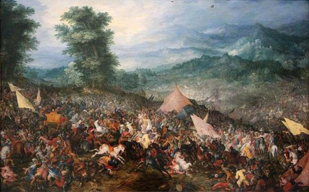 'Battle of Gaugamela' (1602) by Jan Brueghel the Elder. (Public Domain)