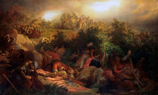 The Battle of Mohács as depicted by The Battle of Mohács. In the context of the hyper-violence of 1526, it is understandable that someone would have hidden such a stash of valuable gold and silver coins in Hungary. (Public domain)
