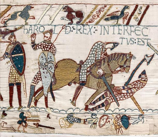 Bayeux Tapestry of Anglo-Saxon Age battle. (Myrabella / Public Domain)