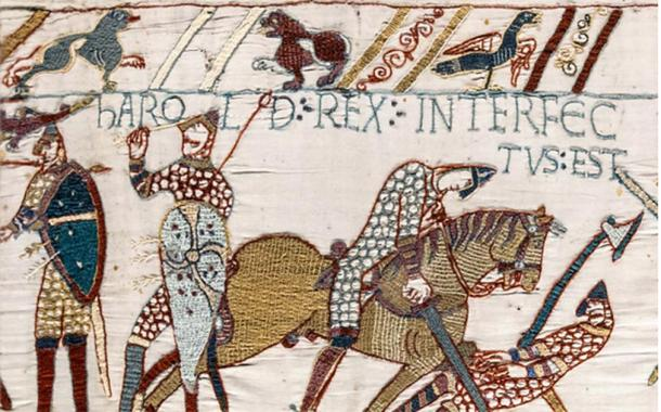 Bayeux Tapestry - The death of King Harold Godwinson at the Battle of Hastings. (Public Domain)