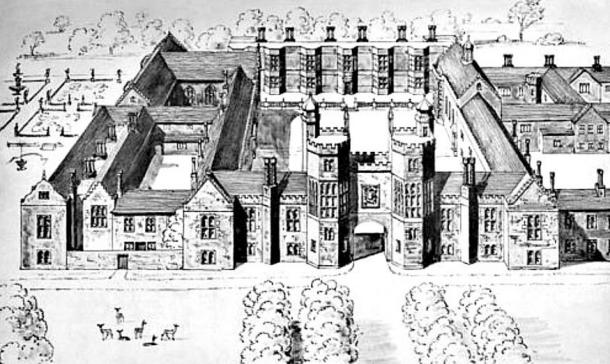 Beaulieu Palace, as it was at the time in which Mary lived in it.
