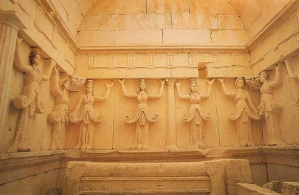 Beautiful friezes are found within the Thracian Tomb of Sveshtari, Bulgaria.