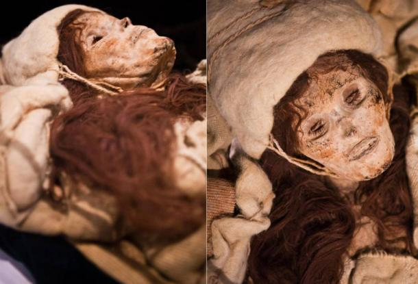 The remarkably preserved Beauty of Xiaohe mummy found in the tomb complex