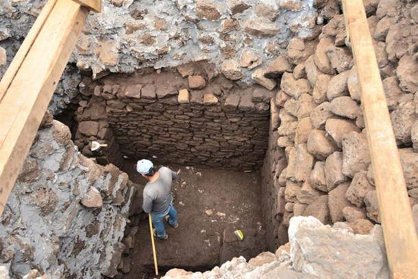 Because the temple was found at the heart of the fragile Aztec pyramid, it cannot remain open. (Melitón Tapia/INAH)