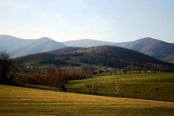 "A view of Bedford County, Va., where the supposed treasure of ""The Beale Papers"" is said to be buried. (CC BY 3.0)"