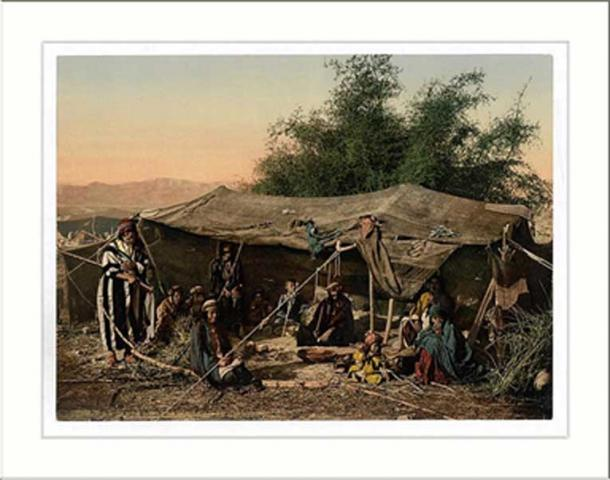Bedouin tents and occupants Holy Land