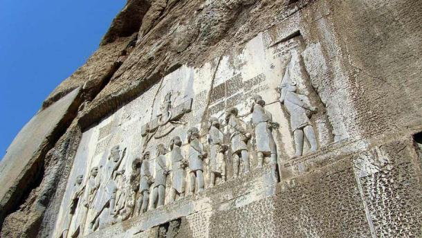 The Behistun Inscription, dated to about 520 BC, in Iran. (PersianDutchNetwork / CC BY-SA 4.0)