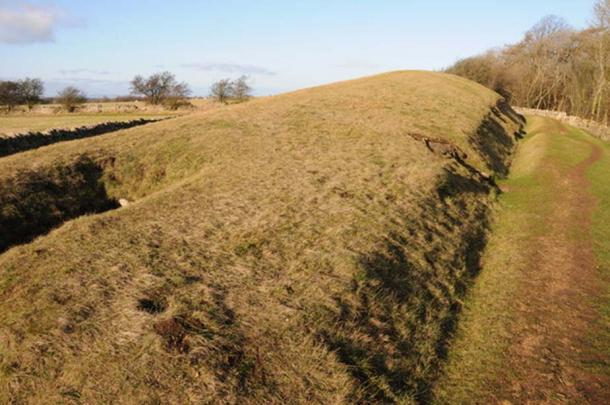 Belas Knap, Gloucestershire, UK. An example of a Long Barrow, dating from about 2,500BC. In this case the chambers did indeed contain 38 skeletons and some animal bones.