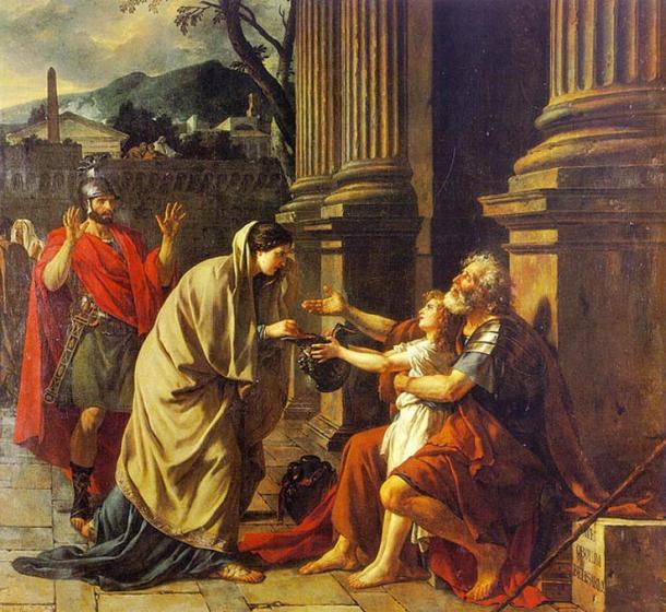 Belisarius Asking For Alms (1781) (Jacques-Louis David)