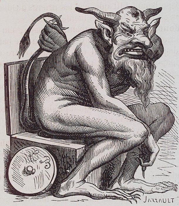 Belphegor illustration from the Dictionnaire Infernal