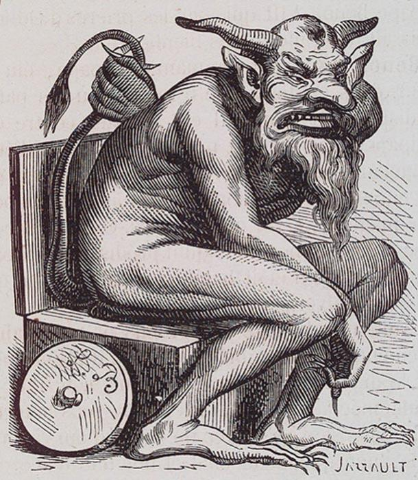 Belphegor illustration from the Dictionnaire Infernal.