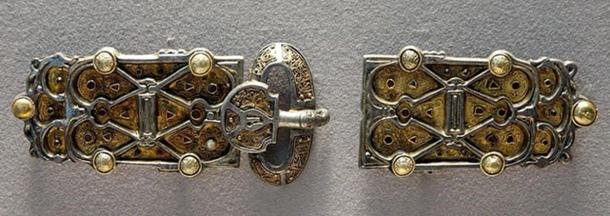 Belt plaques from the finery set of Queen Aregund (Arnegunde).