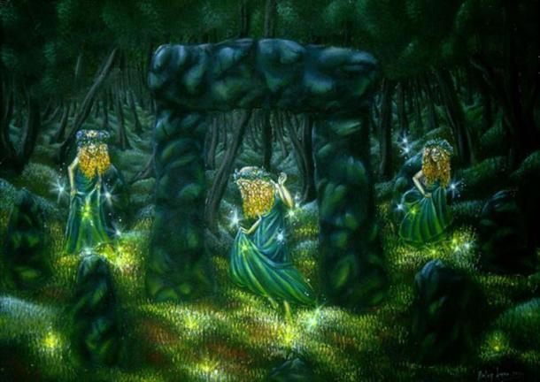 Beltane night Firefly Dancers. (Gwillieth/Deviant Art)