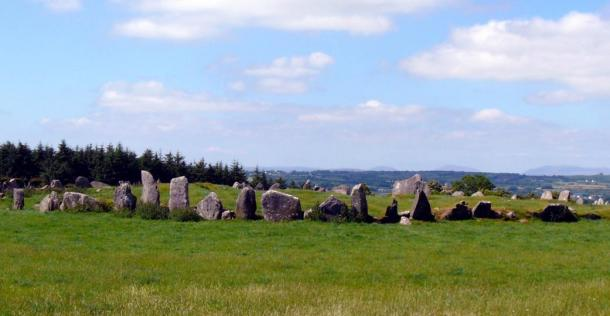 Beltany stone circle in County Donegal, Ireland