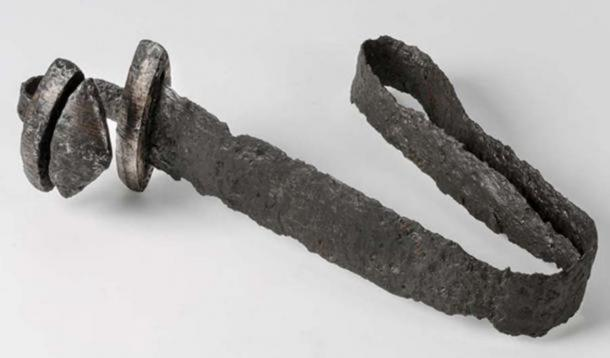 """Bent sword from an exhibition at The Swedish History Museum. (The Swedish History Museum / CC BY-SA 2.0) Many ancient cultures ritually """"killed"""" weapons before burying them."""