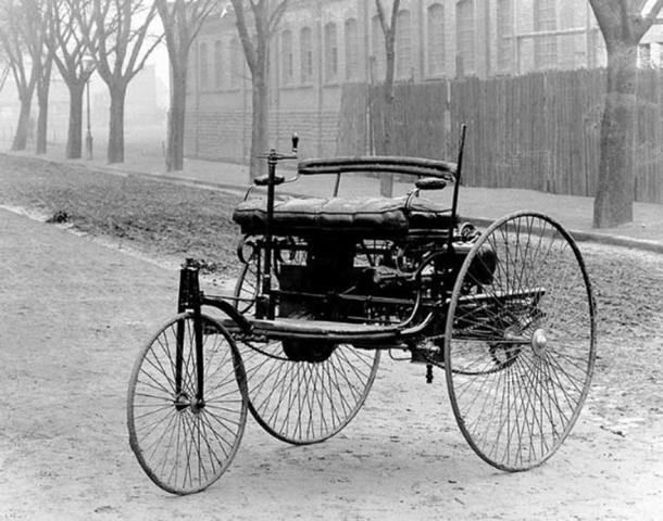 The Benz Patent-Motorwagen, first built in 1885.