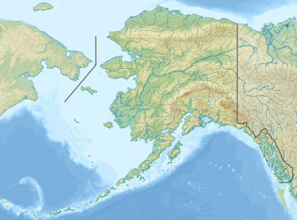 Map showing the location of Bering Land Bridge National Preserve