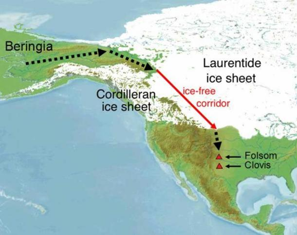 The Beringia Land Bridge. Did the earliest people entering the Americas trek this or pass by it in their boats?