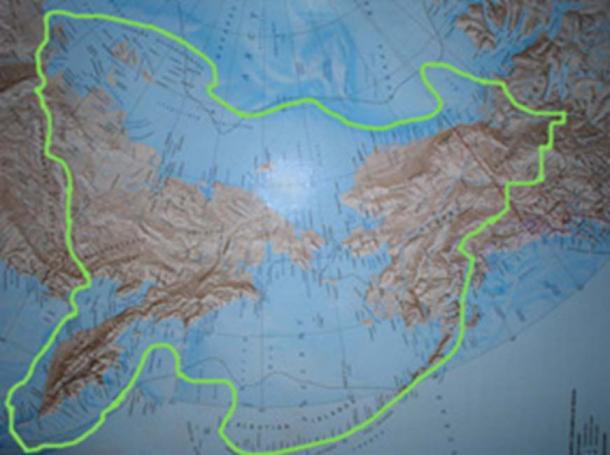 Beringia coverage at the time of the Denisovan. (Roblespepe / Public Domain)