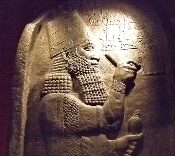 Berlin Museum replica of a steele depicting Esarhaddon