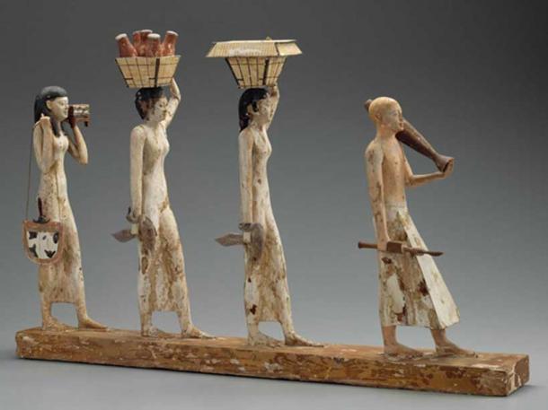 The Bersha Procession, found in Tomb 10A. Credit: Museum of Fine Arts, Boston