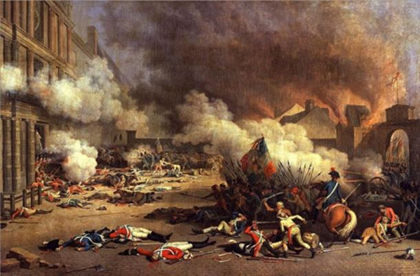 Bertaux's 'Storming of the Tuileries Palace' during the French Revolution (Public Domain)