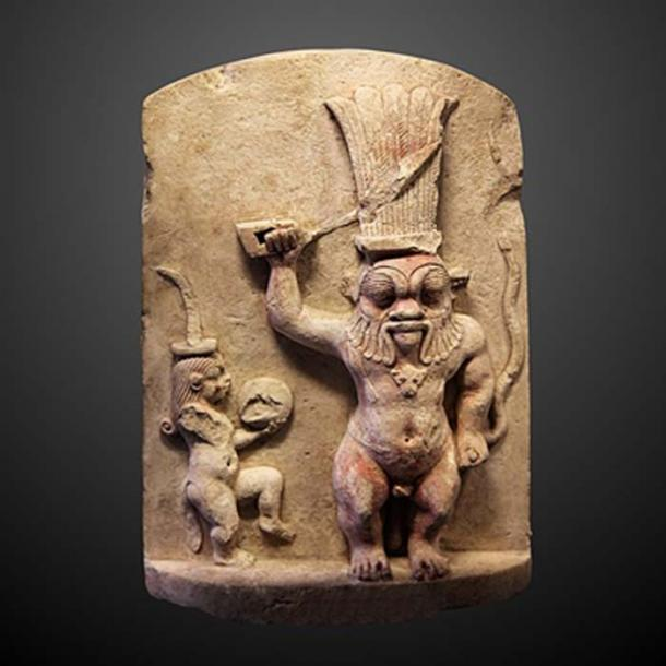 Bes together with his feminine counterpart Beset, is an Ancient Egyptian deity worshipped as a protector of households, in particular, mothers, children, and childbirth.  (Rama / CC BY-SA 3.0)