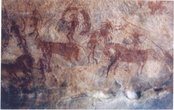 Bhimbetka rock painting.