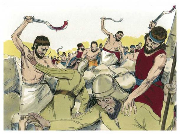 Bible Illustrations: The Sickle Sword (Distant Shores Media /CC BY-SA 3.0)