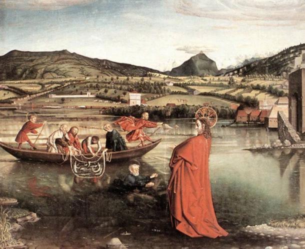 Biblical scene of a fishing village. (Public Domain )