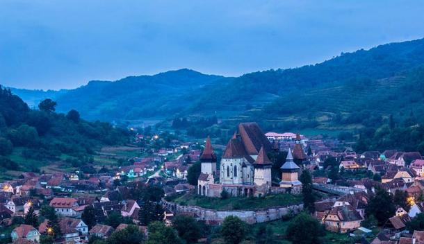 Biertan, Romania and its famous fortified church.