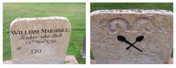 Billy Marshall's grave stone at the Saint Cuthbert Churchyard in Kirkcudbright, Dumfries and Galloway, Scotland. (Helen Bowick/CC BY SA 2.0)