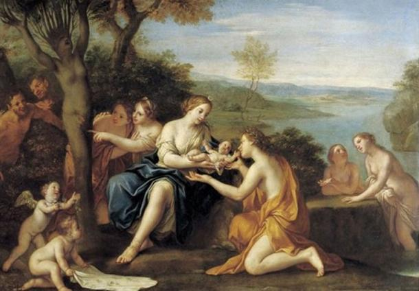 'Birth of Adonis' (c. 1685-90) by Marcantonio Franceschini.