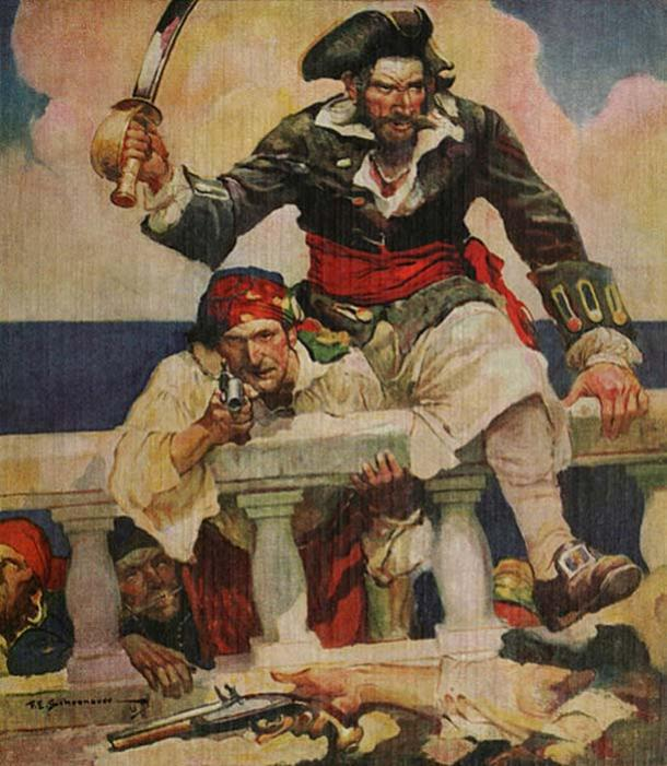 Black Caesar joined Blackbeard's crew. (Jappalang / Pubic Domain)