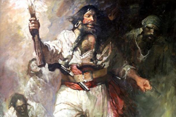 Blackbeard used his image to terrify people into giving up in order to avoid fighting, and so created a fearsome pirate persona which made him infamous